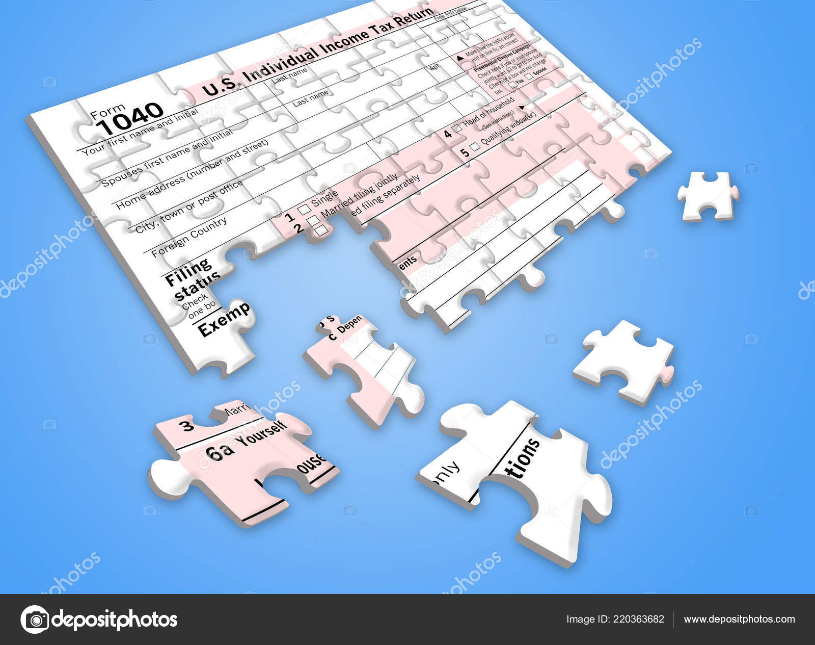 Here Federal Income Tax Form 8 Jigsaw Puzzle People Face ...