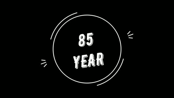 Video greeting with 85 year. Made in retro style. Can be used for congratulations of people, animals, companies and significant dates.