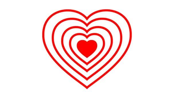 Vytáčení animace srdce na bílém podkladu. Chromakey