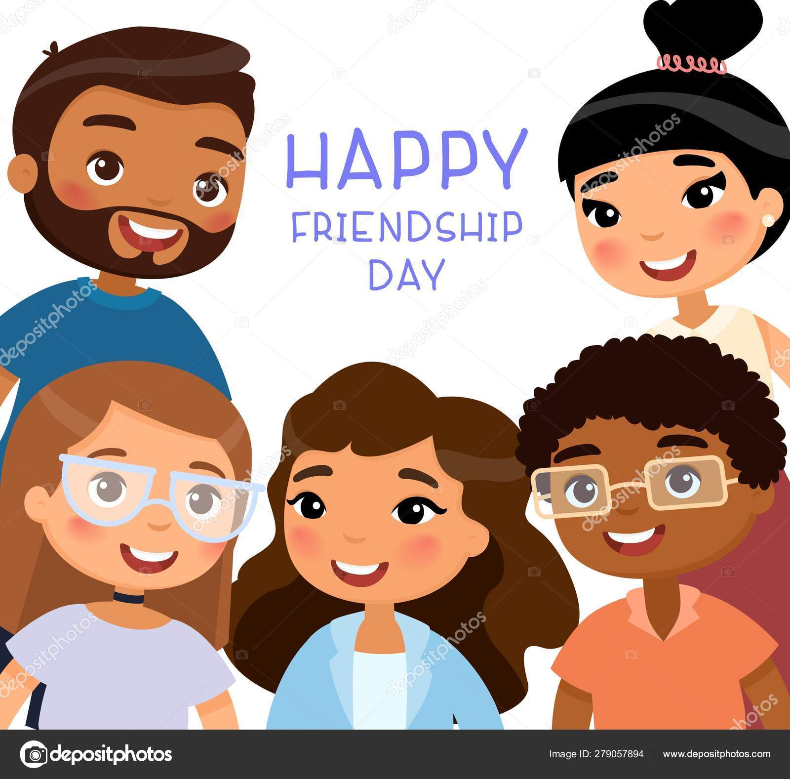 Funny Cartoon Images Of Boys happy friendship day five international young girls young