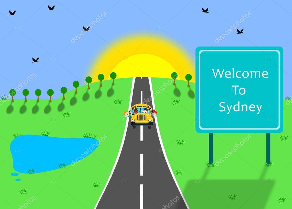 School bus going to sydney