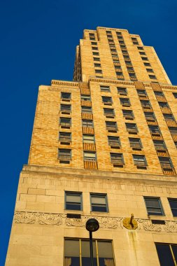 CINCINNATI, OH - APRIL 12, 2018: The historic art deco Carew Tower, a Cincinnati landmark since 1930, stands 574 feet high and features a popular observation deck on the 49th floor.