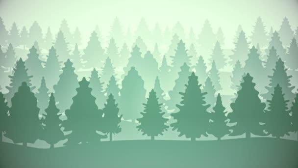 2D dřeva plochý paralaxy animované pozadí smyčky