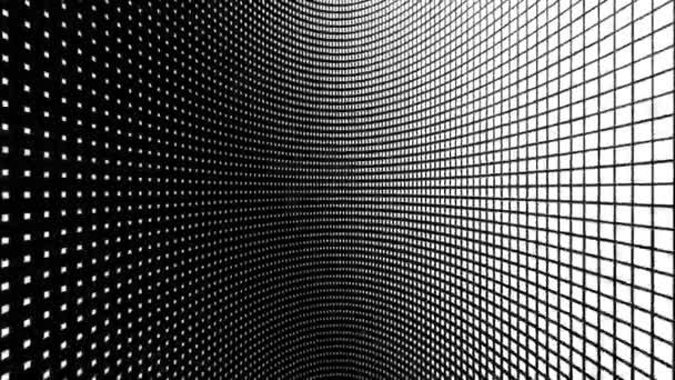 Méretezés a fehér négyzetek a fekete háttér hurok