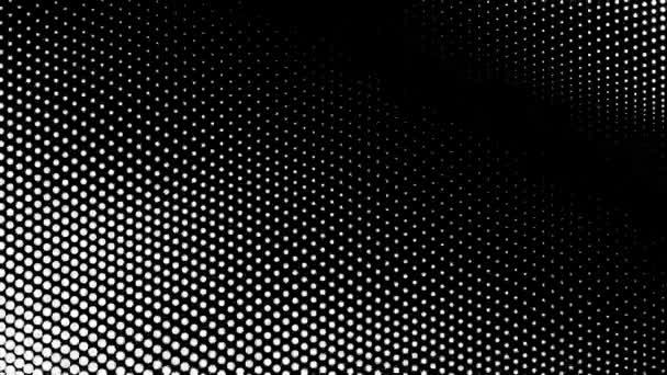 Bílý zvlněný povrch měřítka tečky na černém pozadí smyčky