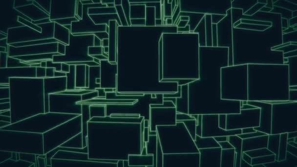 Ve svislém směru pohybu kamery na vinobraní 3d zelený vektorové pozadí město smyčka