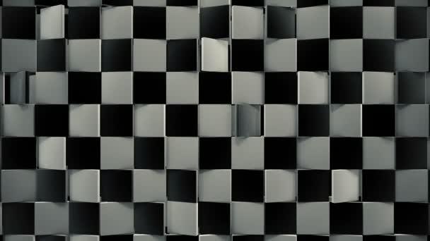 Drehbare schwarze und weiße Fliesen 3D-Boden mit dynamischer Lichtschleife