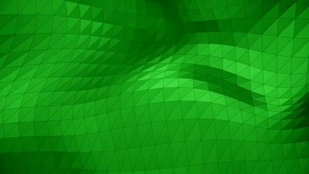 Modern corporate style green triangle wave surface background loop
