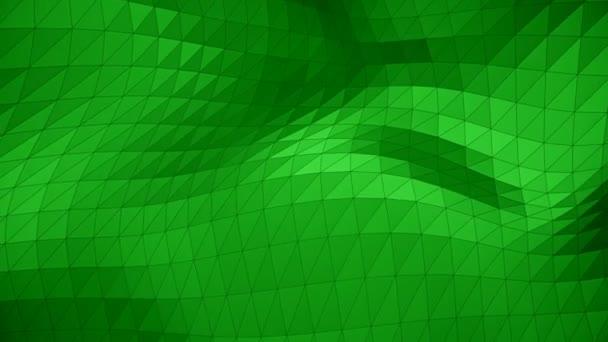 Modern vállalati stílus zöld háromszög hullám felület háttér hurok