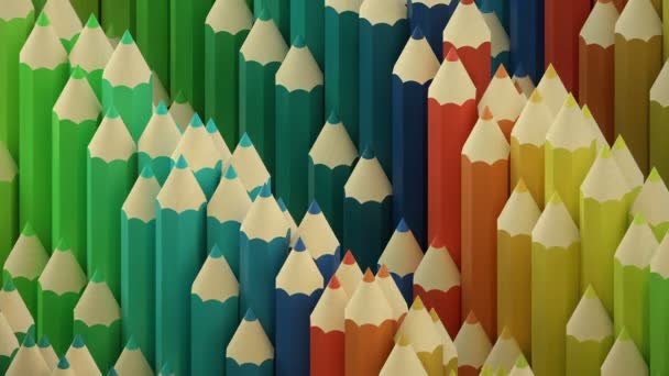 Colorful wooden pencils wave background