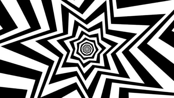 Rotierende geometrische Schwarz-Weiß-Hintergrundschleife