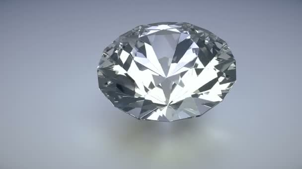 Rotating isolated diamond on a white background photo realistic 3d render loop