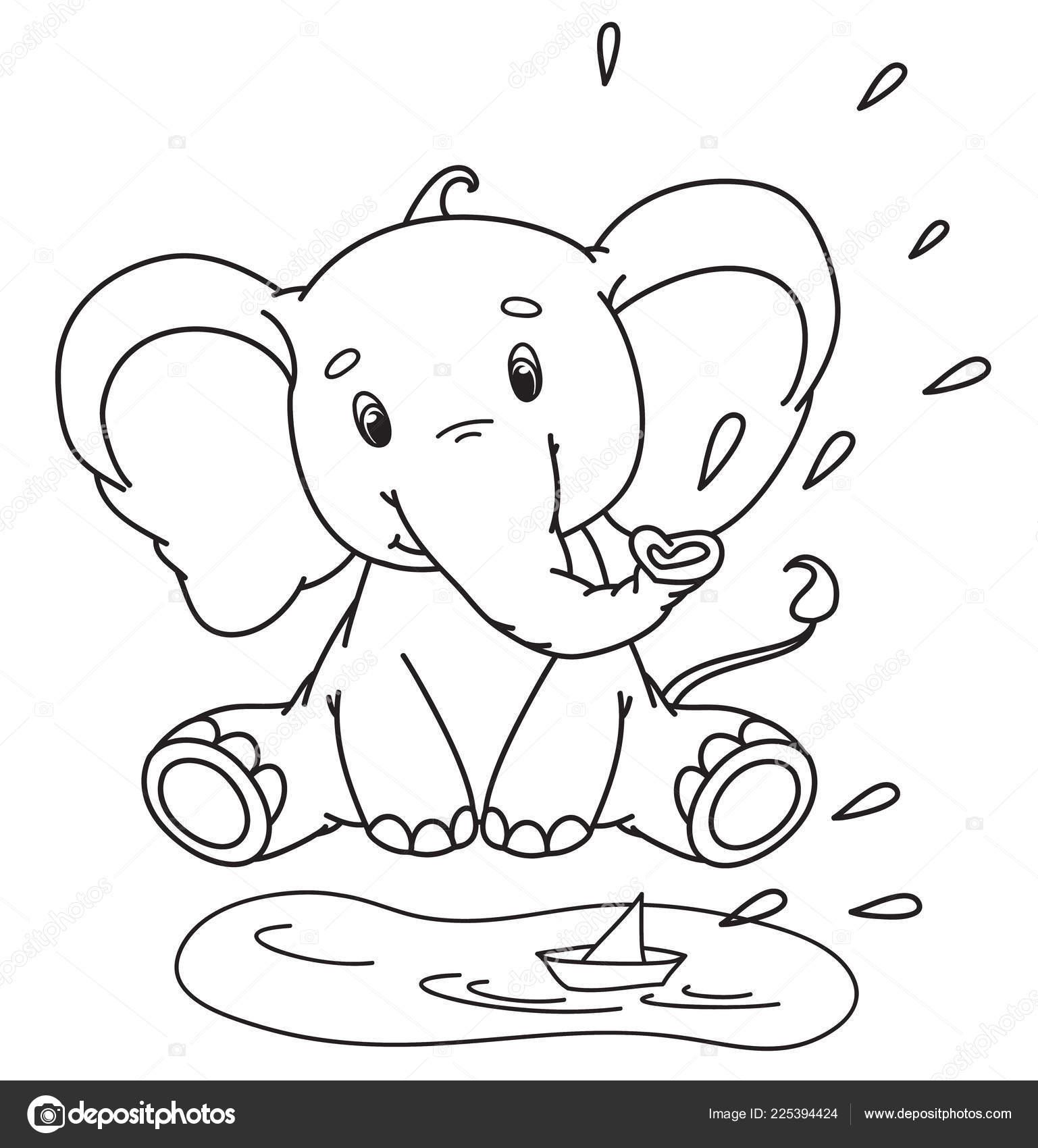 baby elefant zum ausmalen - malvorlagen