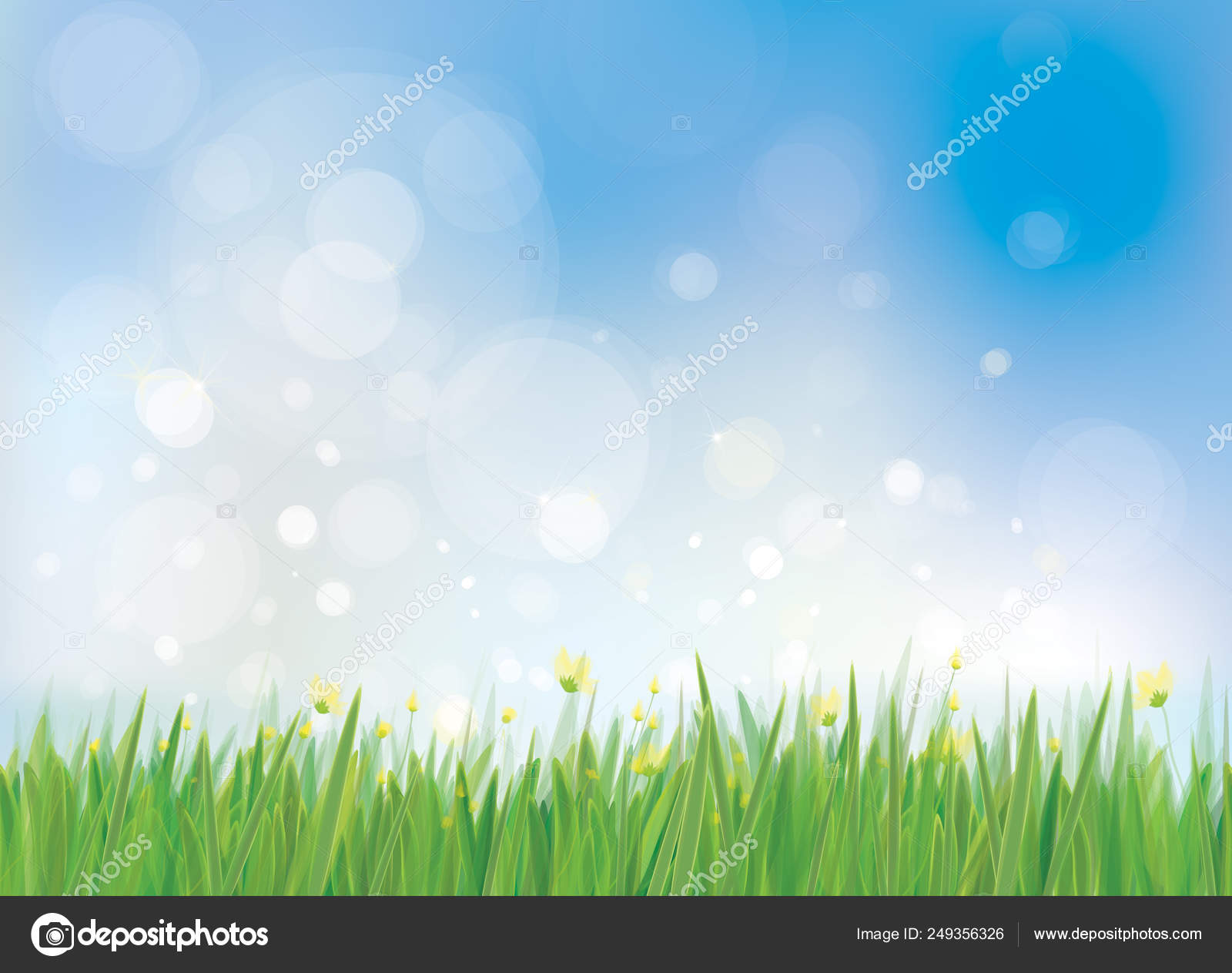 784e7ebbc223c Spring Background White Dandelions Vector Illustration — Stock Vector