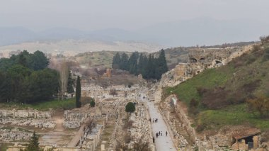 Ruins of the Ancient Greek city of Ephesus near Selcuk, Turkey