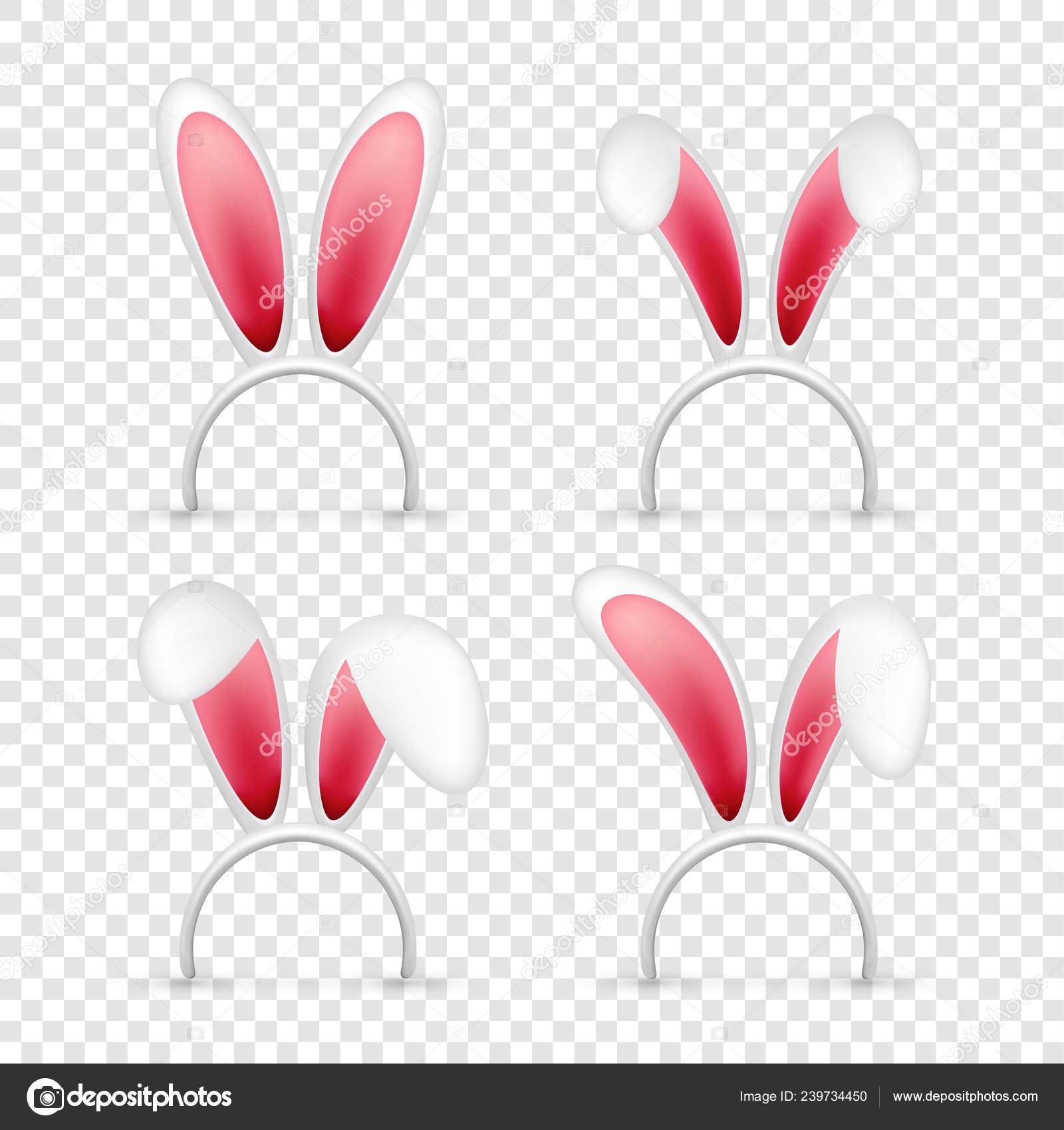 Orecchie del coniglietto di Pasqua. Maschera rosa e bianco con orecchie di  coniglio. Primavera stagione cappello carina. Aprile, vacanze di marzo\u2013