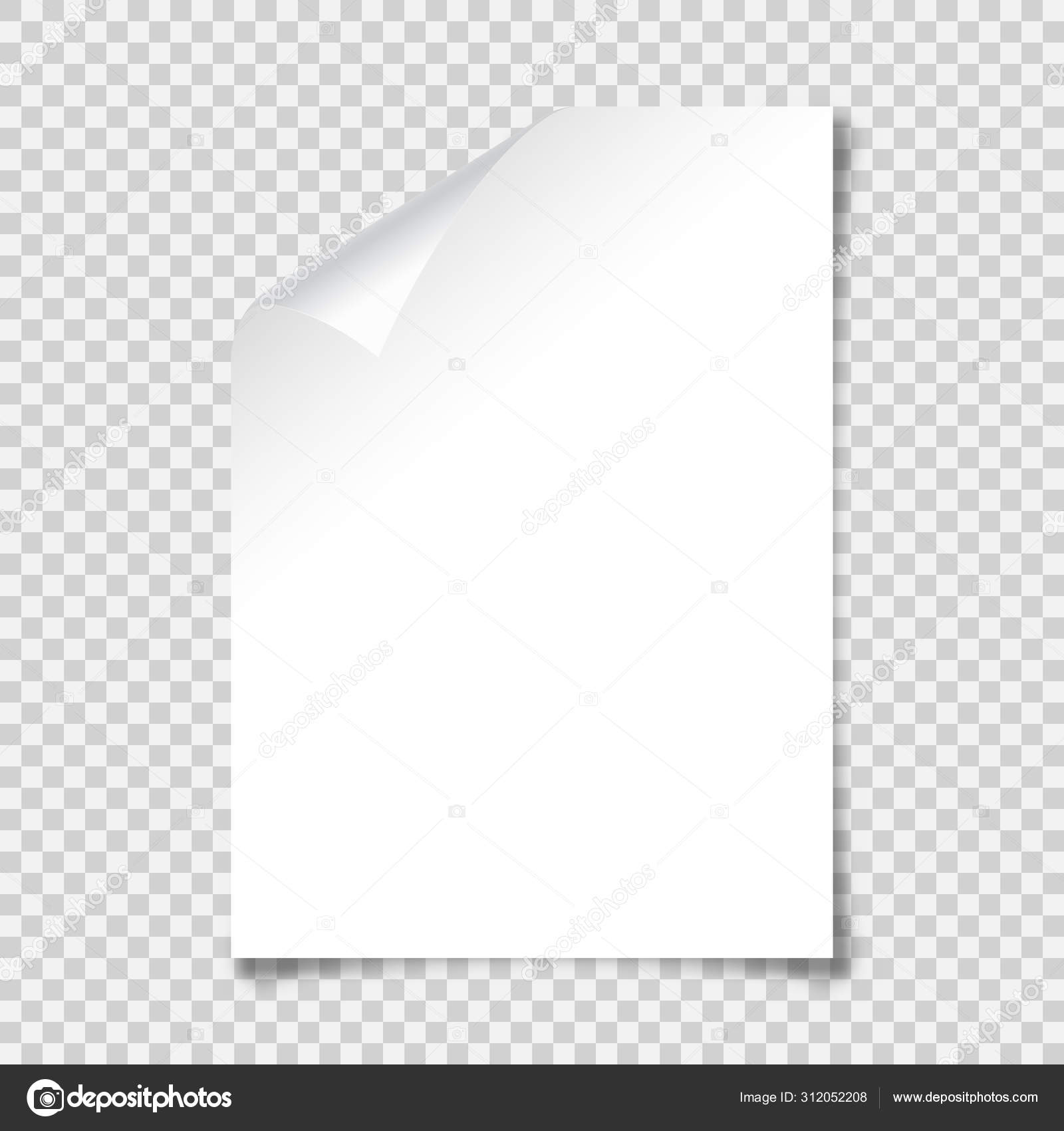 Realistic Blank Paper Sheet With Shadow In A4 Format On