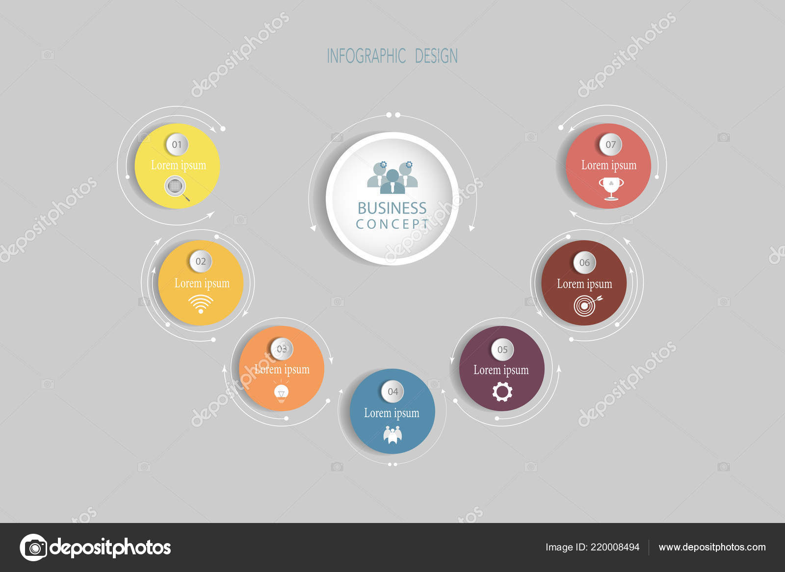 Infographics Vector Design Template Circle Label Design