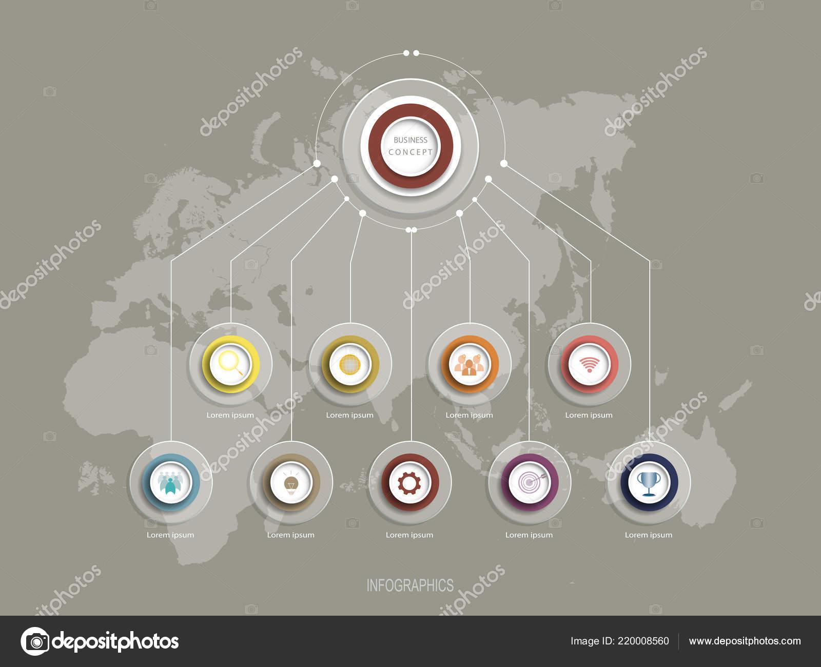 Modèle Conception Infographie Vectorielle Avec Création étiquettes