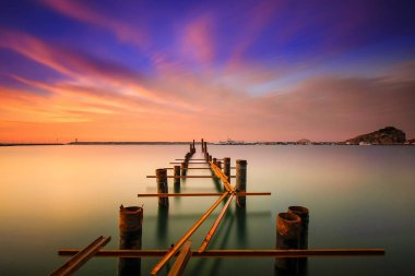 Various famous places and long exposure, sunset and sunrise