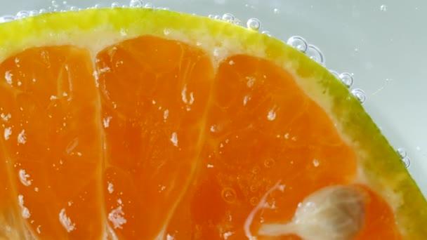 Makro von Orangenfrüchten in Wasser