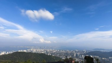 Top view of George Town on Penang hill Malaysia