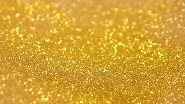 Gyönyörű arany csillámló lassú mozgás