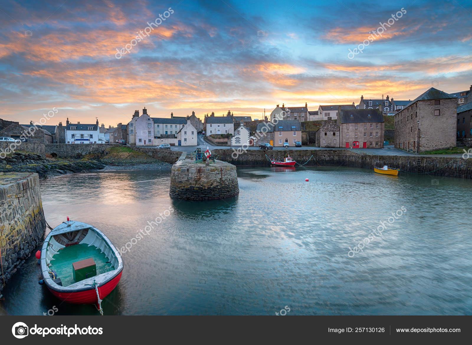 Sunset Portsoy Fishing Village Aberdeenshire East Coast Scotland