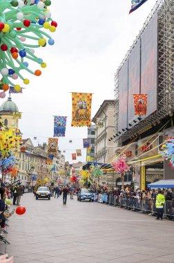 RIJEKA ,CROATIA - MARCH 02:masked people participates at the annual carnival parade in Rijeka, Croatia on March 02 ,2014.