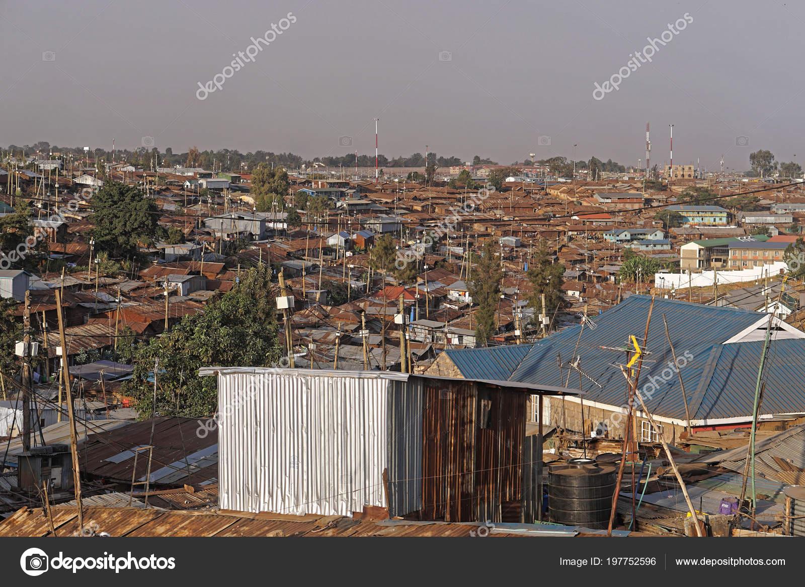 Kibera Biggest Slum Africa Nairobi Kenya — Stock Photo