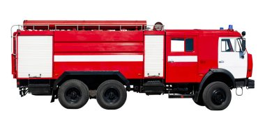 İtfaiye aracı. Rusya'nın büyük kırmızı kurtarma arabası, w izole