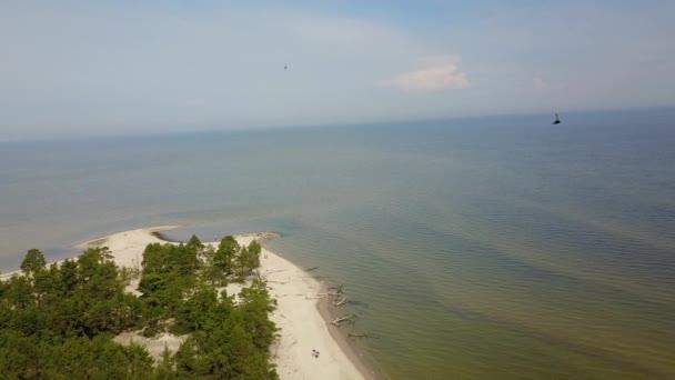 Luftaufnahme von Kap Kolka, Ostsee, Lettland