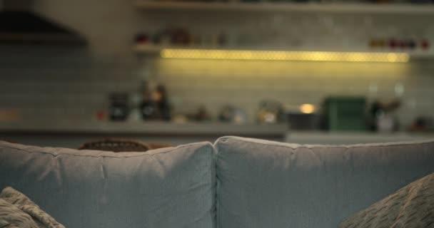 Empty Sofa Cozy Living Room Night Stock Video C Mark Sequencestock Com 219736634