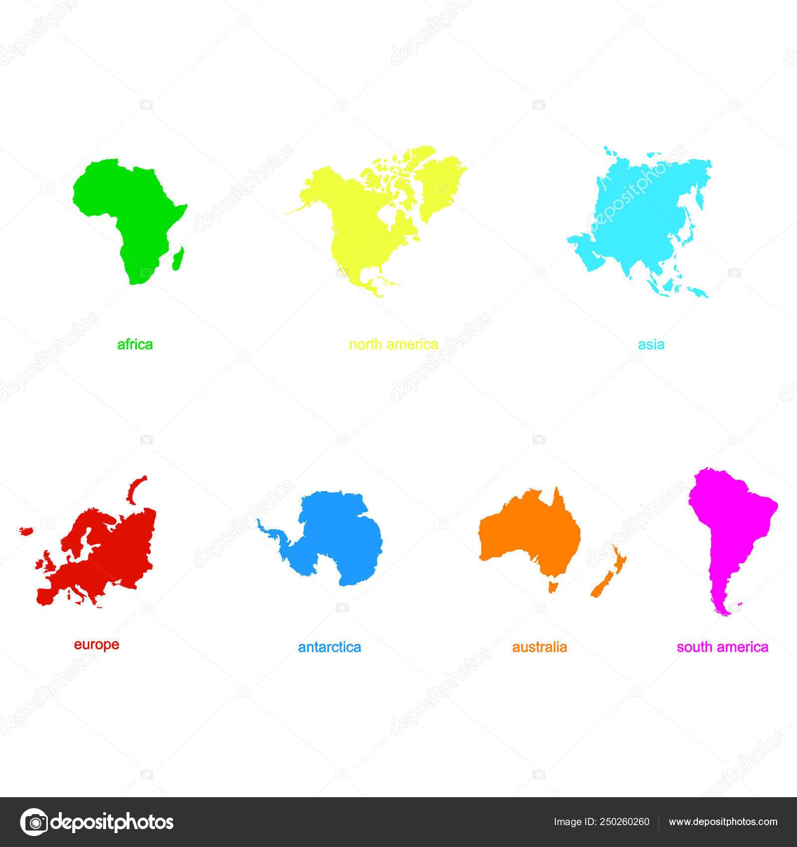 Cartina Del Mondo Con Continenti.Disegno Continenti Mondo Icona Vettore Con Planisfero