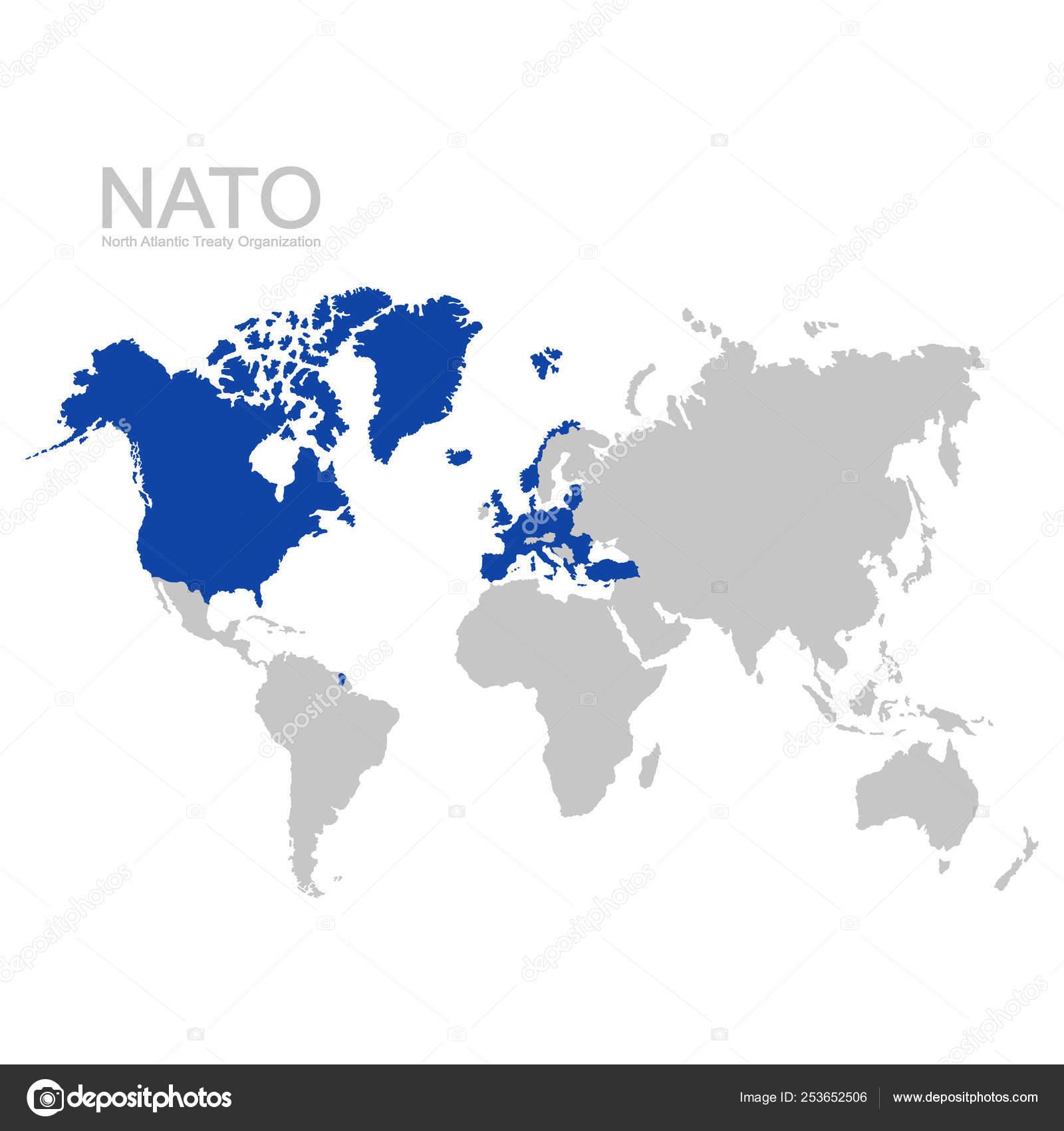 Vector World Map Nato Member State Stock Vector C Drutska 253652506