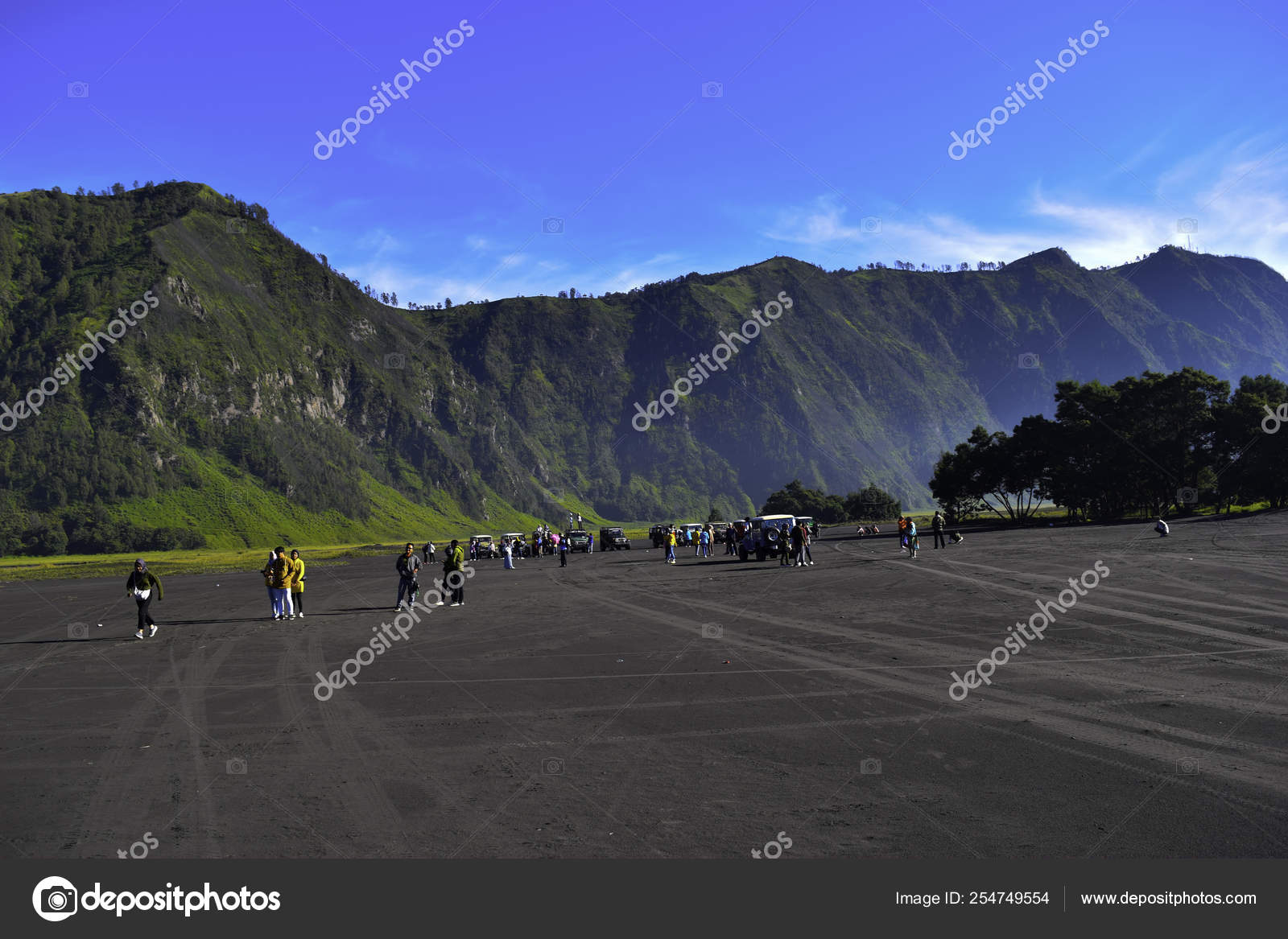 Malang East Java Indonesia April 2 2019 Unrecognized People Landscape Agricultural Field The Summer Season The Car Tracks On The Ground With A Dramatic Cloudy Sky Stock Editorial Photo C Olanstock 254749554