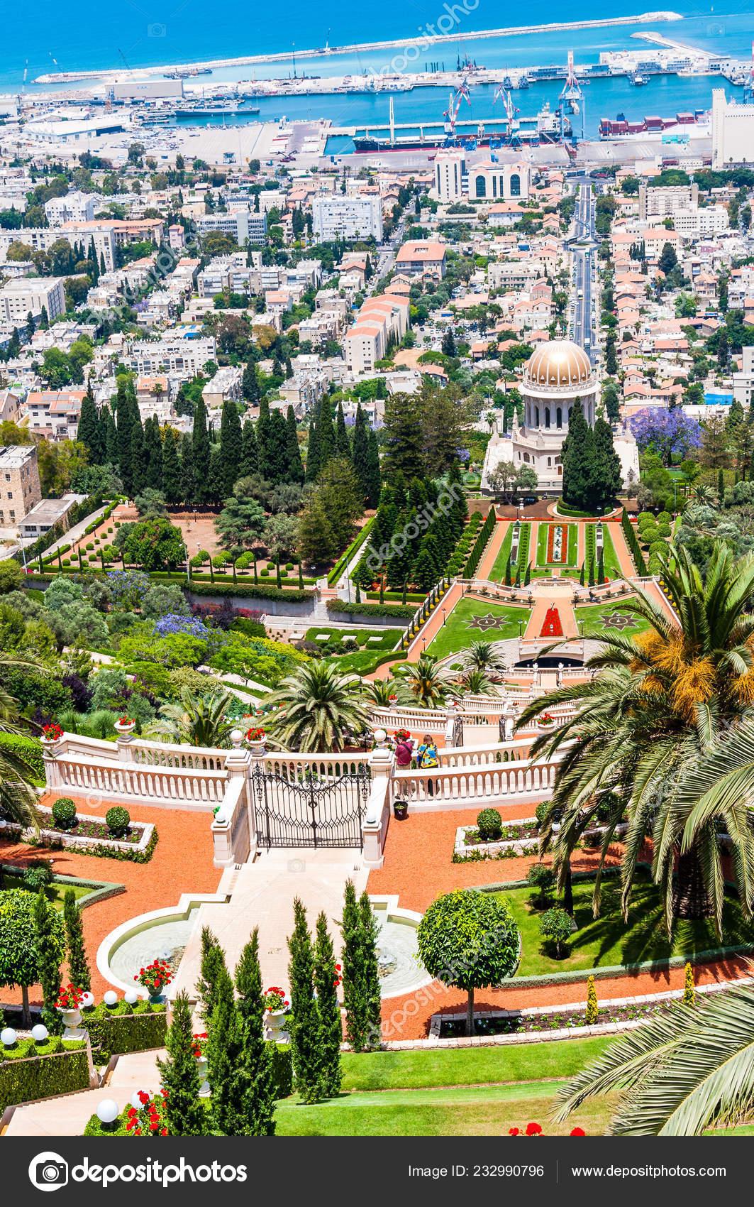 Haifa Israel Mayo 2012 Las Terrazas Bahai También Conocida