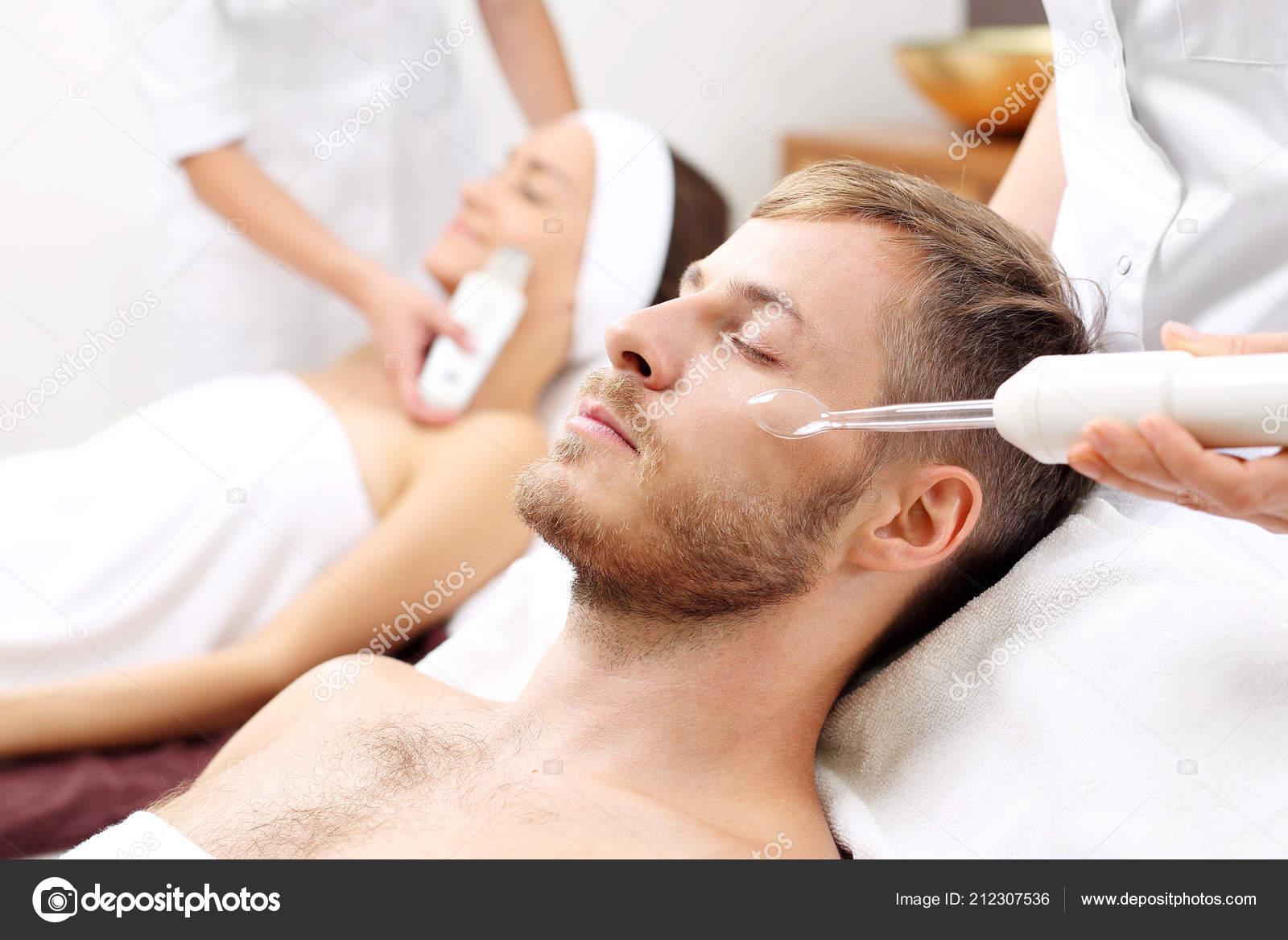 Spa Two Man Woman Beauty Salon Face Skin Care Treatment Stock Photo C Robertprzybysz 212307536