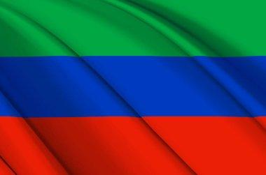 Dagestan 3D waving flag illustration.