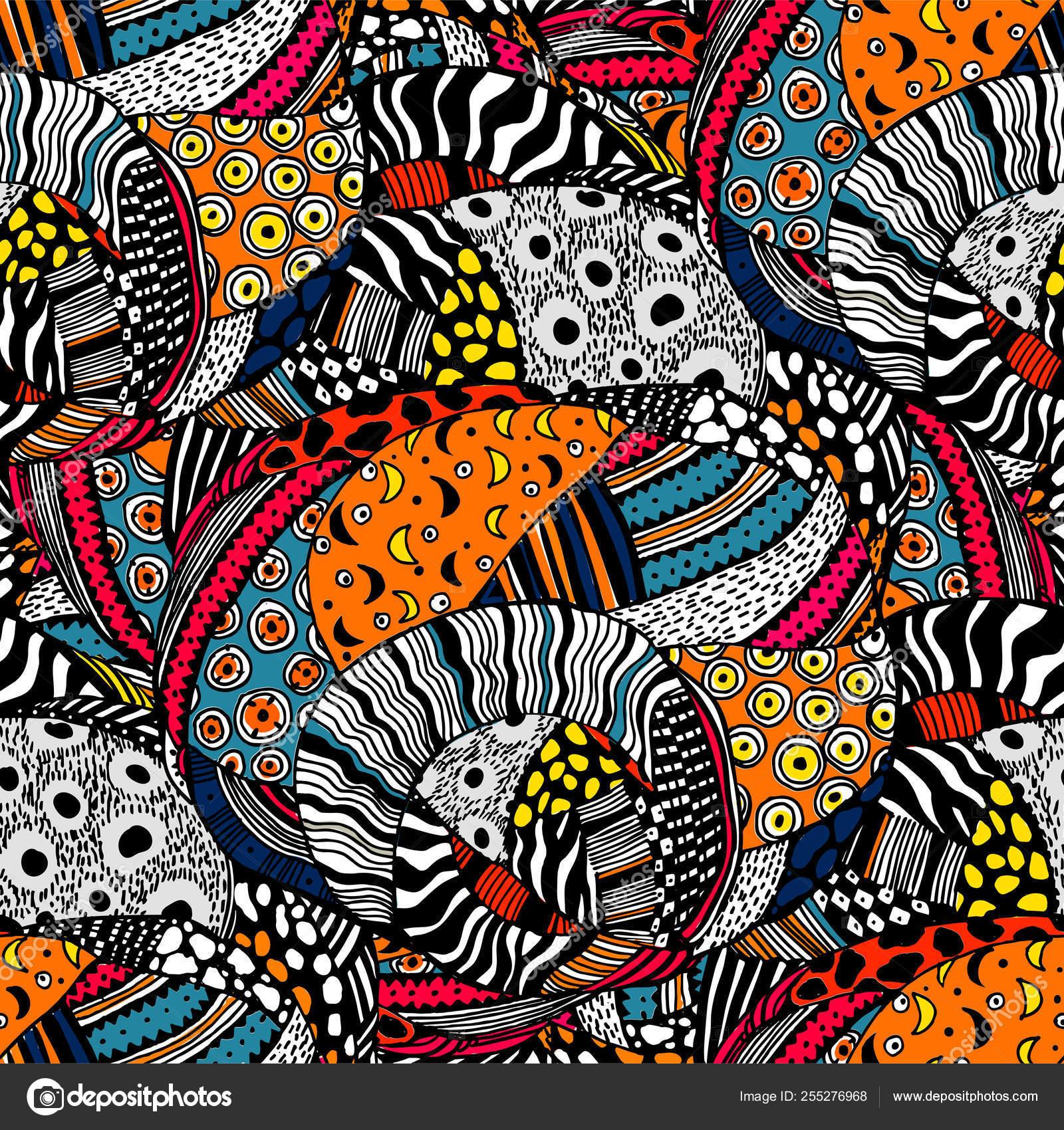 Estilo étnico Moda Africana De Patrones Sin Fisuras