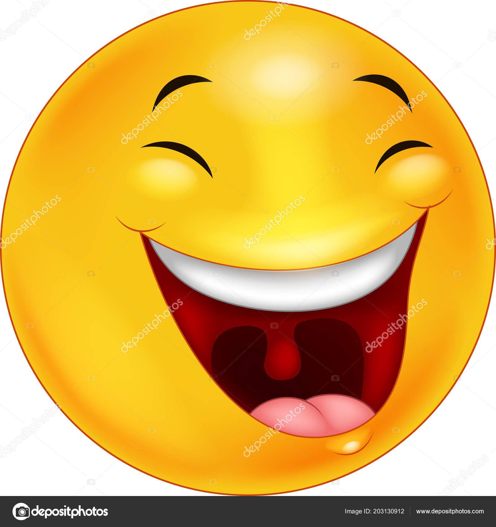 Cartone animato emoticon faccia smiley felice u vettoriali stock