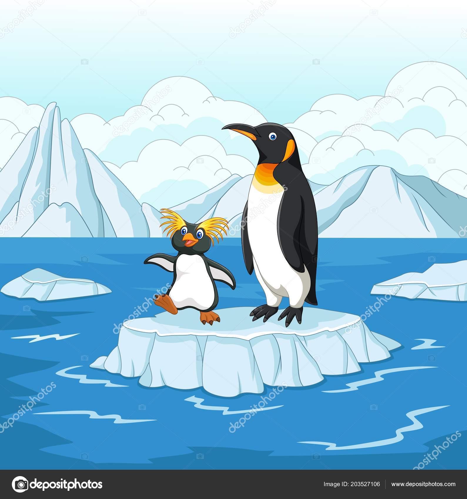 Pingouin dessin anim jouant sur banquise image - Dessin banquise ...