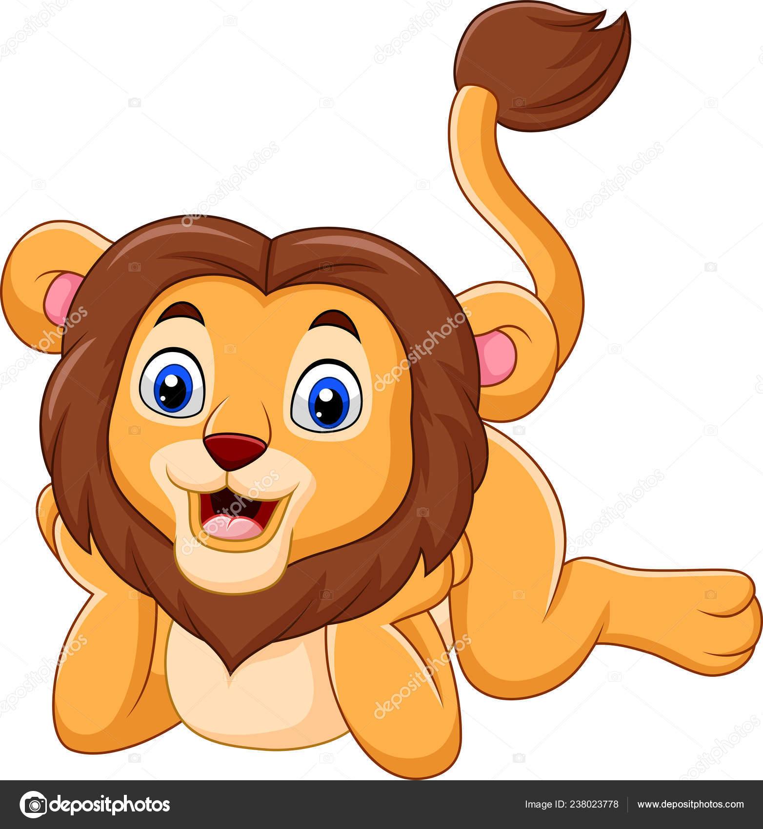 Illustration Vecteur Dessin Animé Lion Bébé Mignon Image