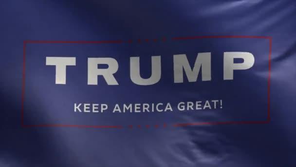 Flaggenwahl für Trumpf - Amerika groß halten - Schleife