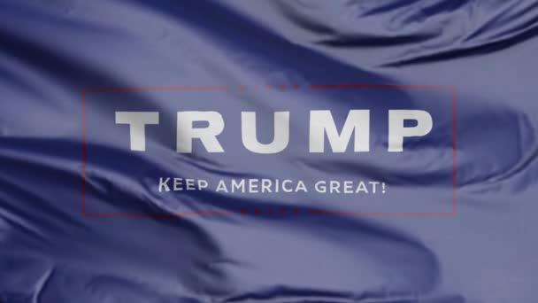 Flagge für Trumpf - Amerika groß halten
