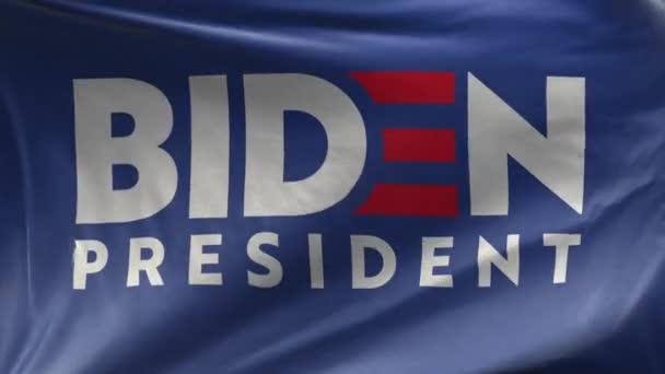 Vlajka Joe Biden pro prezidenta - bílé pozadí - smyčka