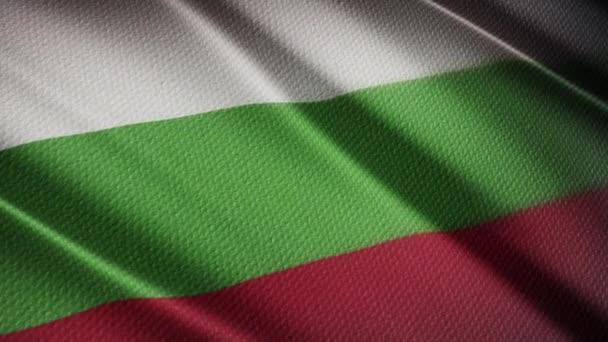 Flag of Bulgaria Realistic 3D