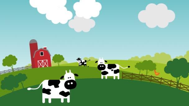 Kráva únos mimozemšťany za slunného dne na farmě