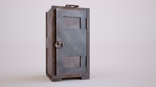 Zlata tyče skládané těsně v staré bezpečí s jeho dveře otevřené dokořán v koncepční obrazu financí a majetku