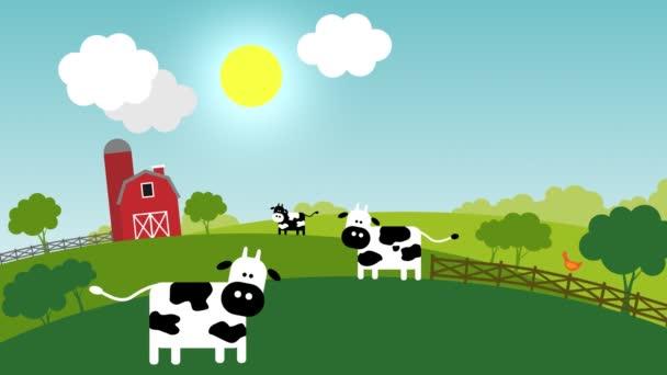 Loopable animace představuje přechod od dne do noci na farmě